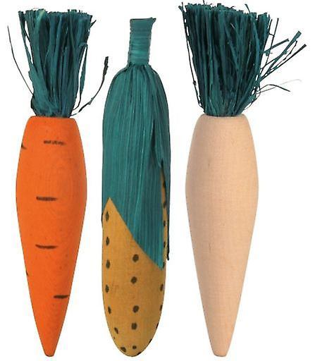 Grønnsaker i tre, 3pk