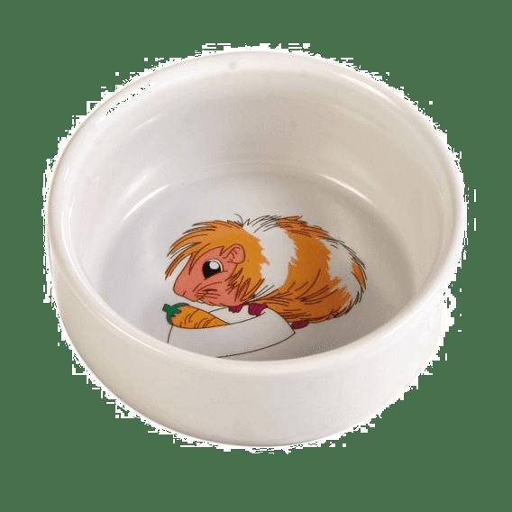 Matskål keramikk med marsvinmotiv Ø11cm