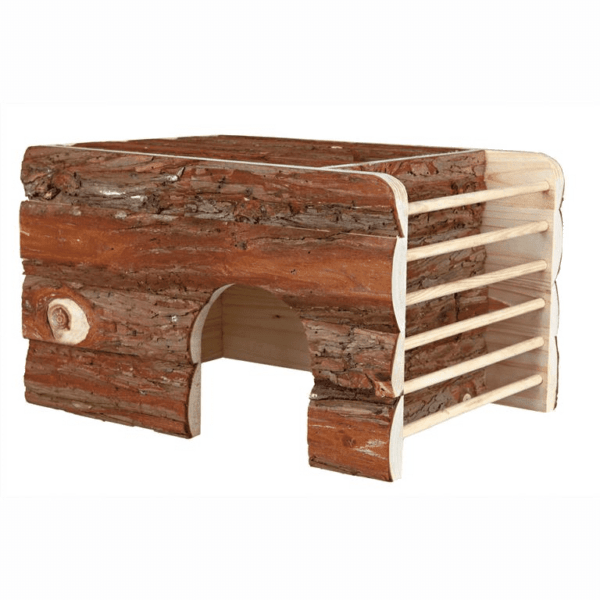 NATURAL LIVING HOUSE ILA WITH HAY RACK 40×25×29CMv