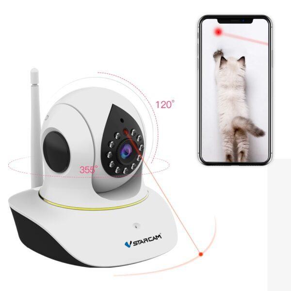 Vstarcam C38S-P1 - kamera med kattelaser