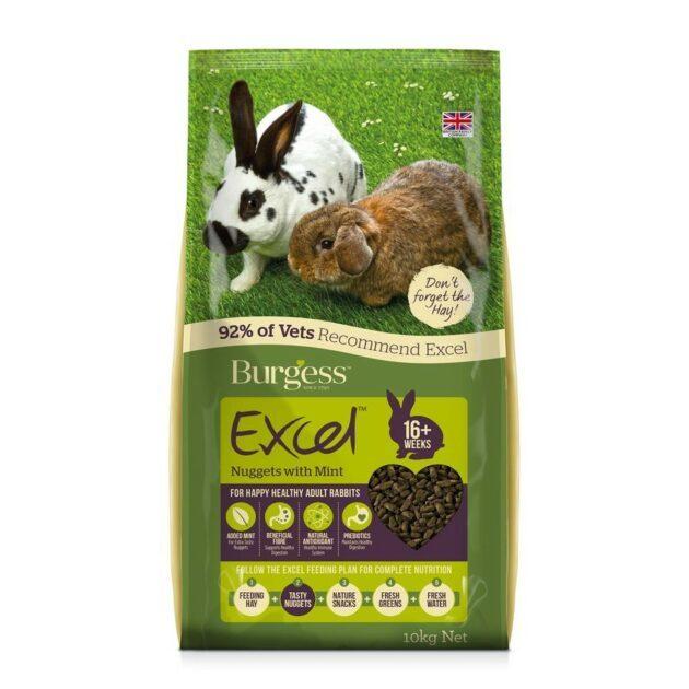 Burgess kaninfòr pellets voksen