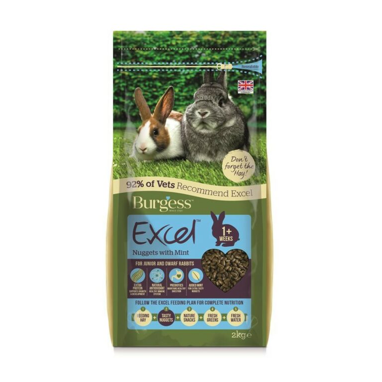 Burgess Excel Junior & dvergkanin pellets med Mint 2 kg