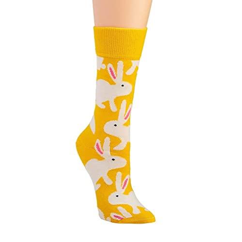 Hvit kanin på gul sokk